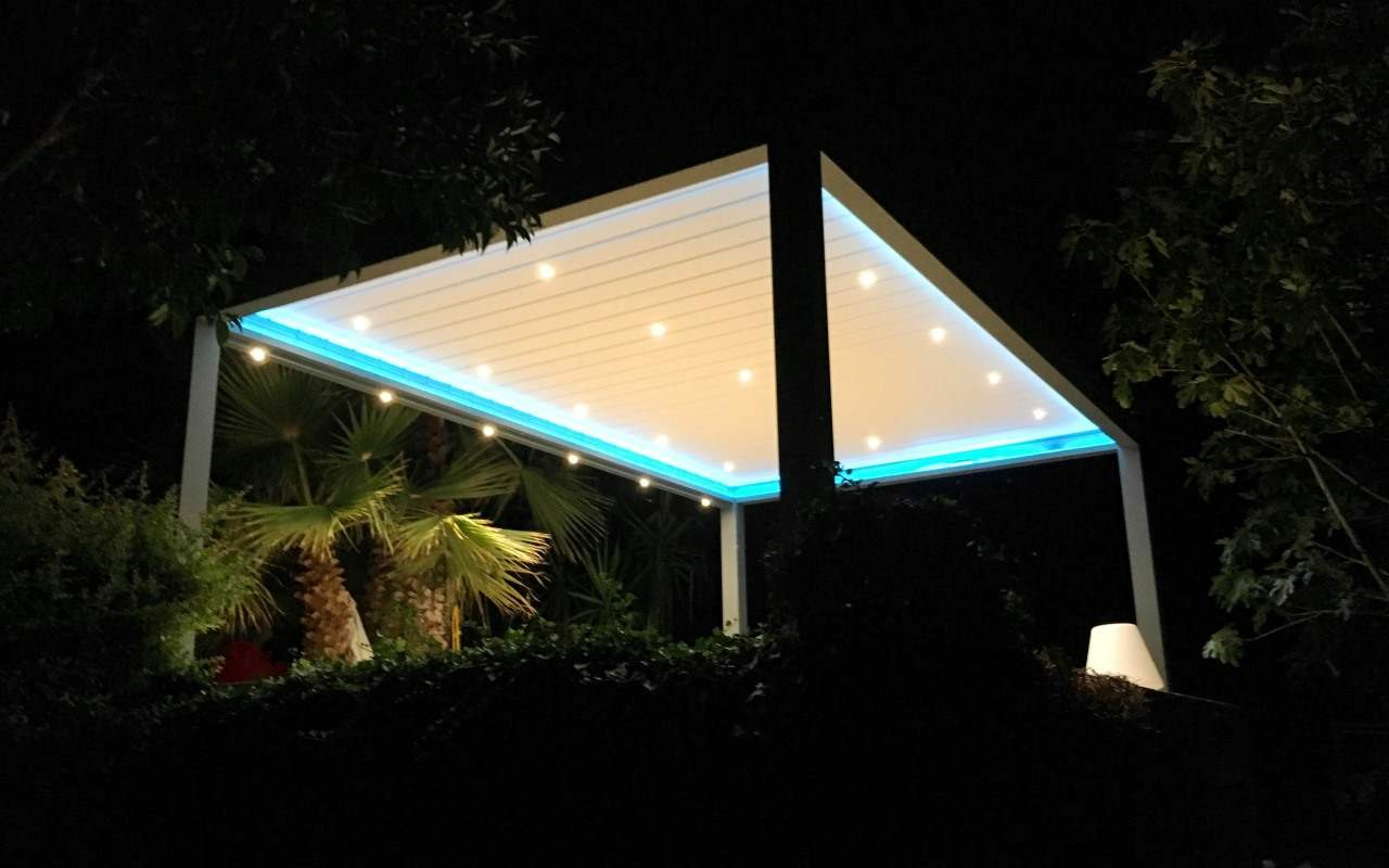 shutterdak met LED strips en LED spots