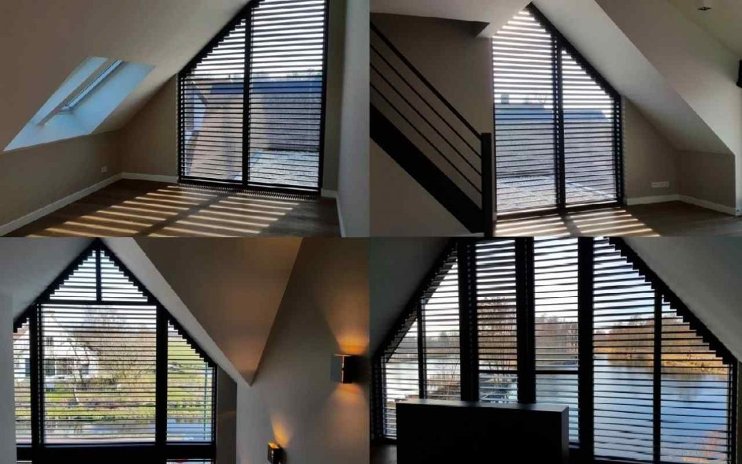 Schuine shutters voor schuine ramen