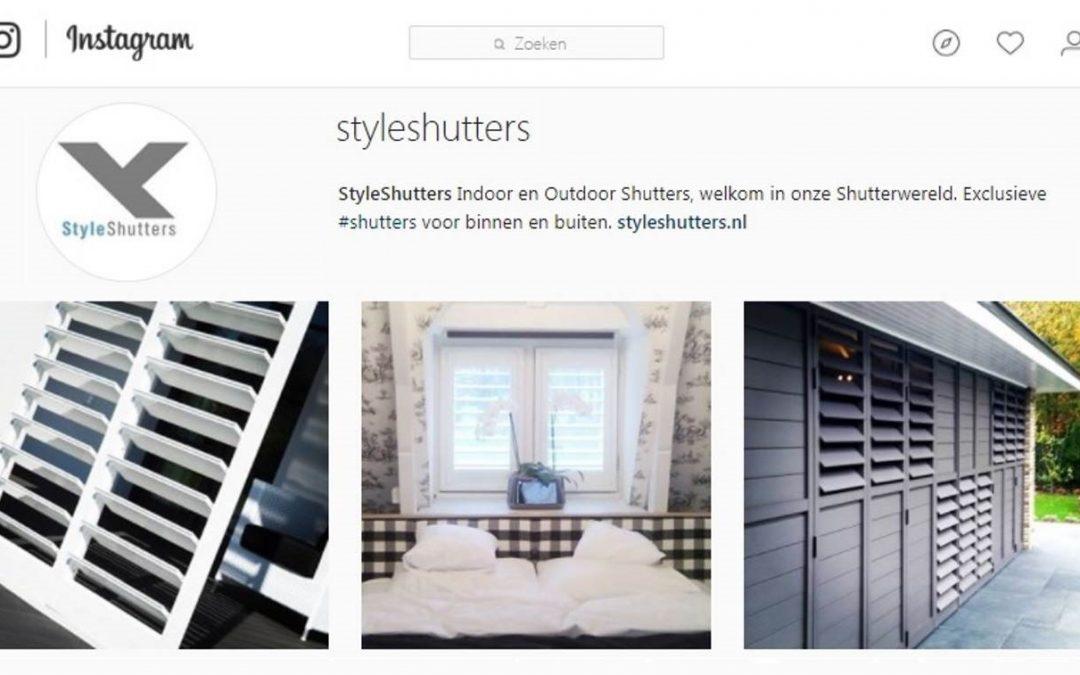 StyleShutters nu ook op Instagram.