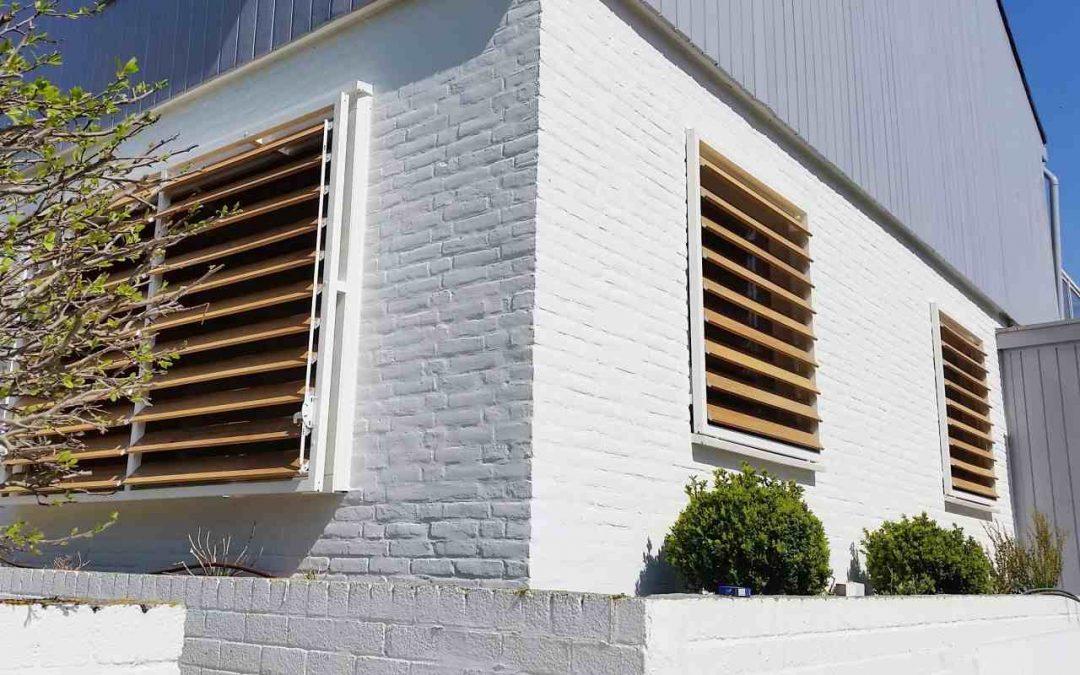 Iroko houten shutters