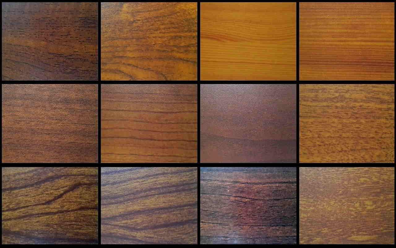houtprint voor aluminium shutters